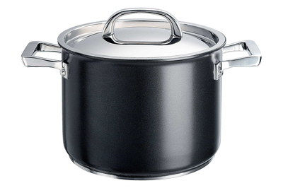 Dense Gauge Stockpot Dish With Lid And Steel Handles