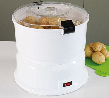 Rounded Electric Potato Peeler Machine With Flip Lid