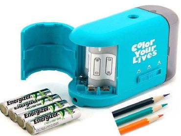 Quiet Desktop Pencil Sharpener With 4 Batteries