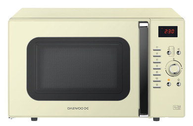 De-Ice Quartz Cream Microwave Oven With Front LED