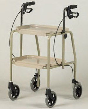 Height Flexible Walking Frame With 2 Trays