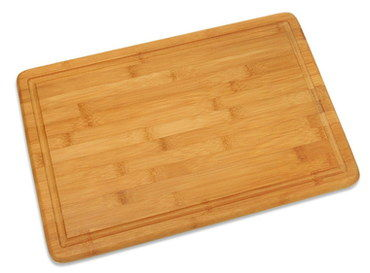 Genuine Bamboo Chopping Board With Groove On Borders