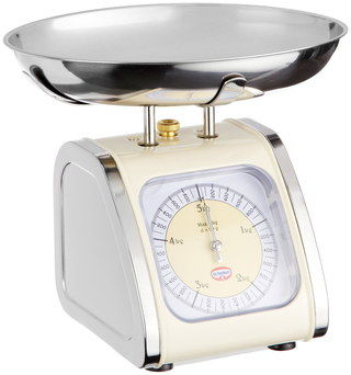 Retro Cooking Scales For Food With Cream Exterior