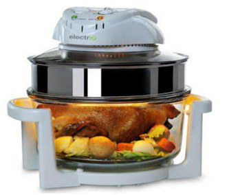 Large IR 1400W Halogen Cooker In White
