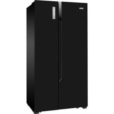 Multi Flow Big American Fridge Freezer In All Black