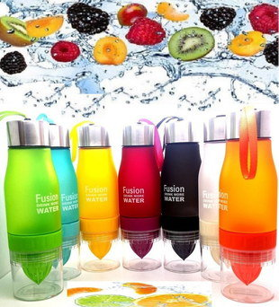 Frosted Bottle With Fruit Infuser In 5 Colours