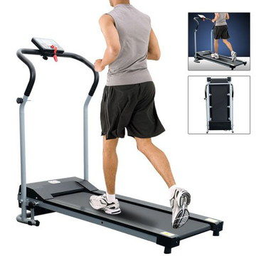 LED Display Treadmill For Home Motorised With Man On Belt