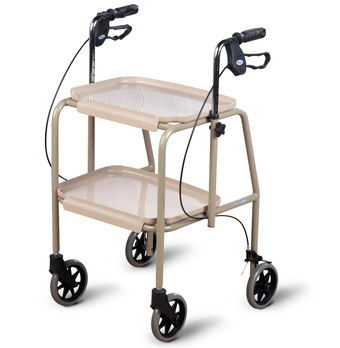 Walking Aid Trolley With Square 2 Trays