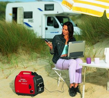 Recoil Start Petrol Generator For Caravan Black And Red