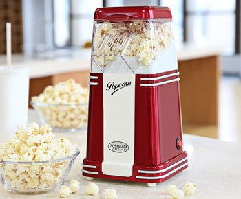 Vintage Popcorn Machine With White Stripes