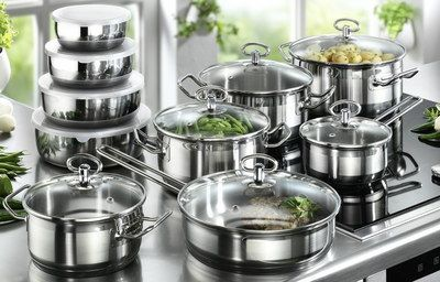 Jasmin Saucepan Set For Induction Hobs On Cooking Range