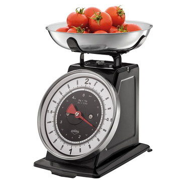 Steel Old Fashioned Kitchen Scales In Black