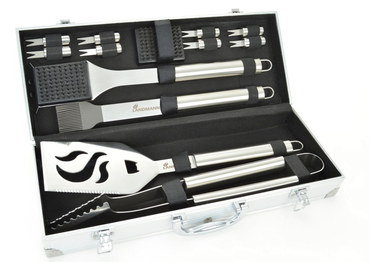 Calibre Steel Barbecue Tools In Sturdy Case
