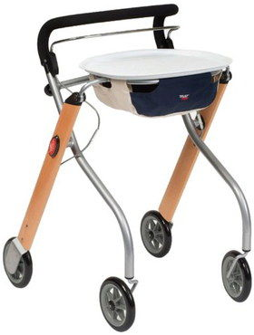 Domestic Trolley Rollator With Rounded Tray