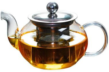 600 ml Clear Teapot With Infuser And Curve Hand Grip