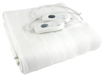 500 GSM Double Fitted Electric Blanket In White