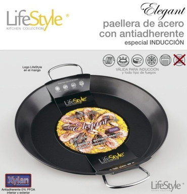 Tough Grips Large 40 cm Paella Pan With Angled Sides