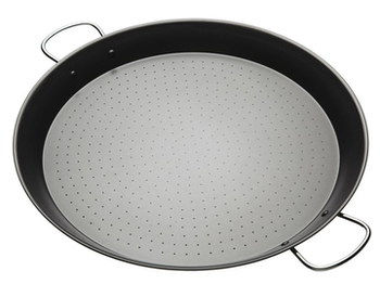 Riveted Giant Paella Pan In All Black