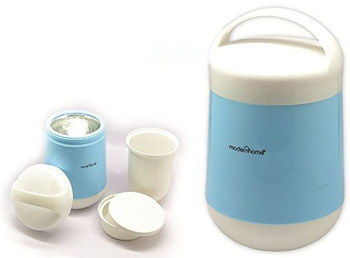 Glass Hot Food Thermos Container In Light Blue