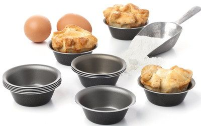 Anodised Individual Yorkshire Pudding Tins Separated