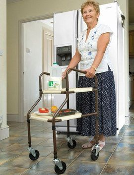Health Care Walking Frame With 4 Wheels