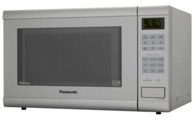Silver Microwave Oven In Grey