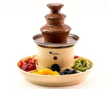 Steel Home Mini Chocolate Fountain With Fruit Tray