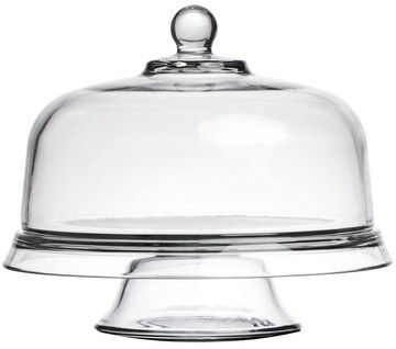 Thick Glass Cake Stand With Lid And Small Grip