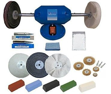 6 Inches Bench Grinder Polisher Kit In Blue