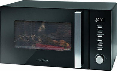 Digital Space Saving Microwave Oven In Black Finish