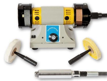 Broad Workbench Grinder Polisher With Yellow Casing