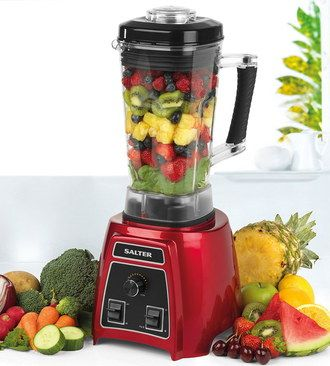Cross Blade Blender Smoothie Maker Juicer In Red