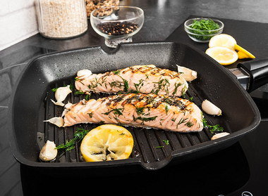 Induction Hob Griddle Pan With 2 Lips