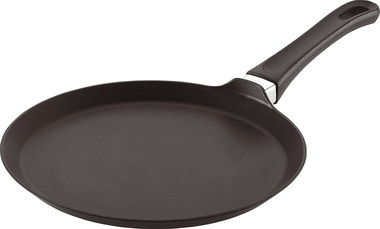 Circular Pancake Flat Frying Pan With Black Exterior