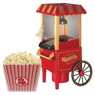 Popcorn Machine Vintage Style With Gold Trim
