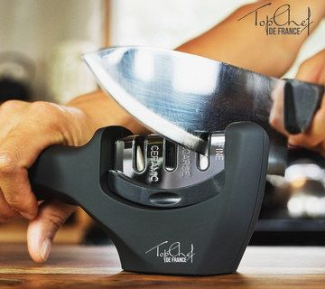 Sturdy Professional Knife Sharpener In Man's Hand