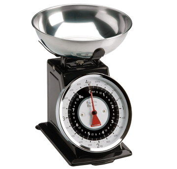 Steel Vintage Kitchen Scales In Black Finish