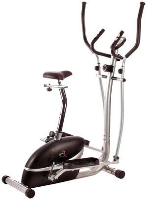 Quiet Exercise Bike Cross Trainer With Black Saddle