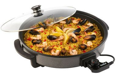 Big Surface Electric Paella Pan With See Through Cover