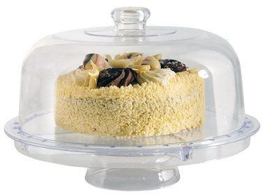 Presentation Large Cake Stand With Lid With Knob Grip